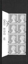 Machin - 7p - date block of 8 - 22/02/99 694 - unmounted mint