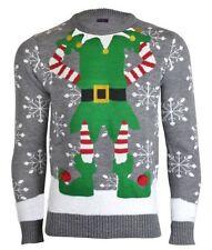 Brave Soul Christmas Crew Neck Jumpers & Cardigans for Men