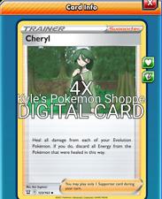 Cheryl 4X Pokemon TCG Online PTCGO 123/163 DIGITAL CARD SENT FAST