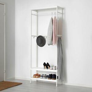 MACKAPÄR Attaccapanni/rastrelliera scarpe, IKEA, bianco 78x193 cm, NUOVO