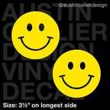 "Set of 2 * 3.5"" HAPPY FACE vinyl decal car window laptop sticker - smiley i'm"