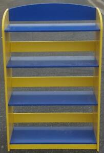 Fabulous Brightly Colored Bookshelf - VGC - GREAT FOR BOYS ROOM - BRIGHT & FUN