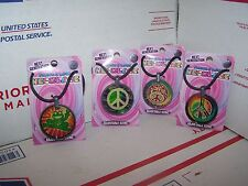 LOT OF 4  DIFFERENT NEXT GENERATION PEACE & LOVE NECKLACE NEW ON CARD