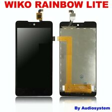 P1 DISPLAY LCD +TOUCH SCREEN per WIKO RAINBOW LITE NERO RICAMBIO MOBILE 4G