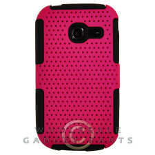 Samsung R480 Freeform 5 Hybrid Mesh Case Hot Pink/Black Cover Shell Protector