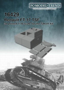 FC Model Trend 1/16 Renault FT-17 TSF for Takom kits