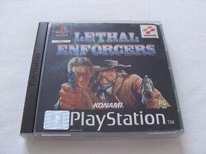 Lethal Enforcers jeu Playstation 1 PAL complet en bon état
