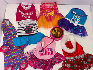 E13 Build A Bear Promise Pets Clothes Holiday Dress Pjs Pajamas Food Jacket lot