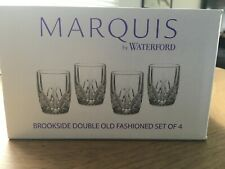 1 SET OF 4 WATERFORD MARQUIS BROOKSIDE DOUBLE OLD FASHIONED DOF GLASSES NIB