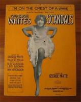 Im On The Crest Of A Wave Sheet Music 1928 George Whites Scandals Vintage (O)