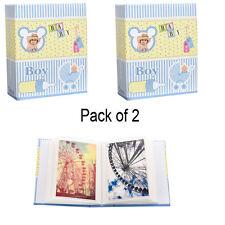 2x piccolo bambino blu 6x4 PHOTO ALBUM scivolare in caso di 100 FOTO al-9140-2pk