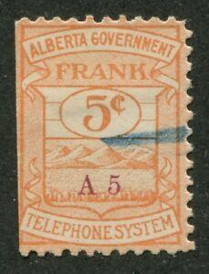 CANADA REVENUE AT1 USED ALBERTA GOVERNMENT TELEPHONE FRANK