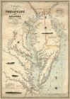 Chart Chesapeake Delaware Bays 1862 Coastal Survey Map Art Poster Print 16x24