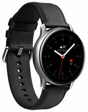 Samsung Galaxy Watch Active 2 SM-R825 44mm Stainless Steel Case with Black...