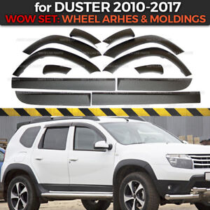 Set arches and moldings Dacia / Renault Duster 2010-2017 plastic ABS body kit