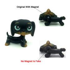 Littlest Pet Shop LPS Toys #325 Black Dachshund Dog Chien Teckel Puppy Blue Eyes