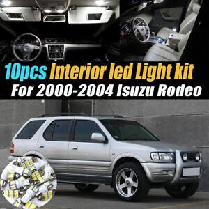 10Pc Super White Car Interior LED Light Kit Pack for 2000-2004 Isuzu Rodeo