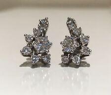 Diamond Cluster Earrings 14k