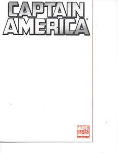 Captain America #1 2011 BLANK VARIANT Silver Logo NM+ 9.6-9.8 Multiples for sale