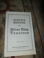 Silver king instruction Vintage Tractor Manual book