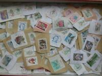 MONACO STAMPS TIMBRES OBLITERES: ENVIRON 1000 TIMBRES ANNEES 1990 A LAVER