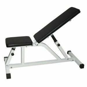iFitness Adjustable Sit Up Bench Fitness Flat Weight FID Incline Press Gym Home