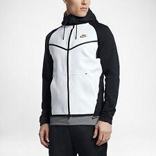 Nike Tech Fleece Windrunner Jacket Hoodie Black White Gold Biege 805144-011 Sz M