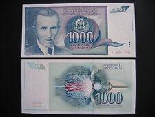 YUGOSLAVIA  1000 Dinara 1991  (P110)  UNC