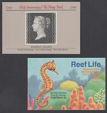 Marshall Islands Sc 376a, 440a Intact Booklets, 1990 Penny Black + 1993 Fish