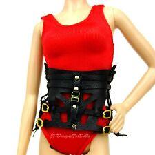 Barbie Herve Leger Max Azria Model Muse Black Harness Belt New