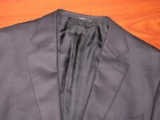 RECENT Zegna 15MILMIL15 10 POCKETS Solid Black Plush Sport Coat Jacket ~ 44