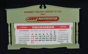 Vtg Calendar 1979 Advertising Jay Norris Catalog Corp Plastic Store Morco Green