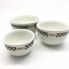 Betty Crocker Country Inn Collection Mixing Bowls 3 pc Set
