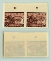Lithuania 1940 SC 316 MNH imperf color proof pair . f2681