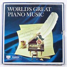 World's Great Piano Music 4 BOXED SET VINYL RECORD ALBUM LP  Chopin, Polonais...