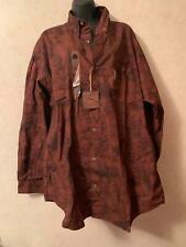 NEW Columbia River Lodge Bronze Bugler Print Cotton Button Down Mens Shirt XL