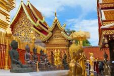 CHIANG MAI THAILAND SKYLINE GLOSSY POSTER PICTURE PHOTO PRINT temple gold 3557