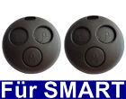 2x 3tasten Llave Mando a distancia carcasa para Smart Fortwo MC01 450 Repuesto