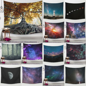Galaxy Space Tapestry Wall Hanging Stars Night Sky Psychedelic Hippie Blanket
