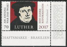 500 Jahre Reformation - Martin Luther, postfr., Ecke unten rechts, Mi.Nr. 3300