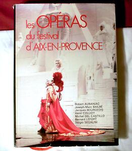 Les Operas Festival Aix En Provence 1982 Book France French Opera Music hc w/ dj