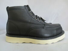 Men's Skechers Black Steel Toe Leather Safety Work Boot Size 7.5 #77093