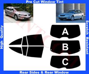 Renault Laguna 5D Est 01-07 Pre-Cut Window Tint 5%-50% Rear Window & Rear Sides