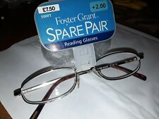 FOSTER GRANT READING GLASSES+2.00 NEW IN PACK