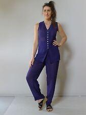 vintage retro 90s unused 12 14 M purple suit top shorts pants Table Eight as new