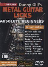 LICK LIBRARY DANNY GILLS EASY BEGINNER ROCK Metal GUITAR LICKS GUITAR DVD TAB