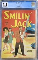 CGC 4.5 FOUR COLOR ISSUE 4 Smilin' Jack VG+ 17 GRADED TOTAL 2069894001