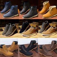 Winter Men Ankle   Boots Leather Shoes Fur Lined Casual High Top Sneakers