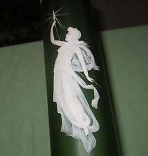ANTIQUE ART GLASS VASE LADY CAMEO ENAMELED ART NOUVEAU WEBB ERA MARY GREGORY