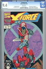 X-Force #2 CGC 9.4 NMint 2nd Appearance Deadpool Weapon X Juggernaut Tom Cassidy
